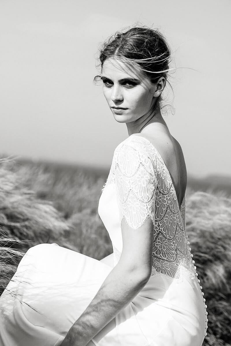 Seiden Brautkleid