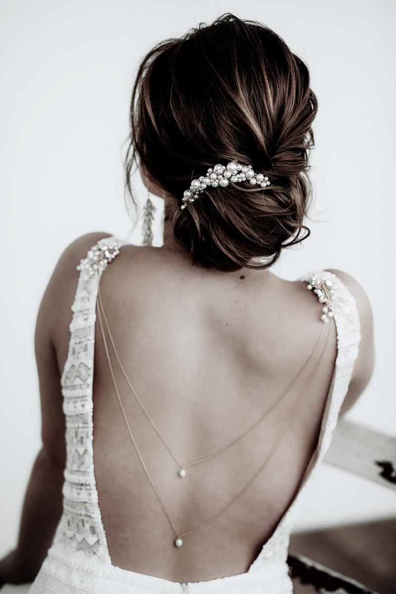Rückenketten Braut- La Chia Headpieces  Jenari - Bridal Concept Store