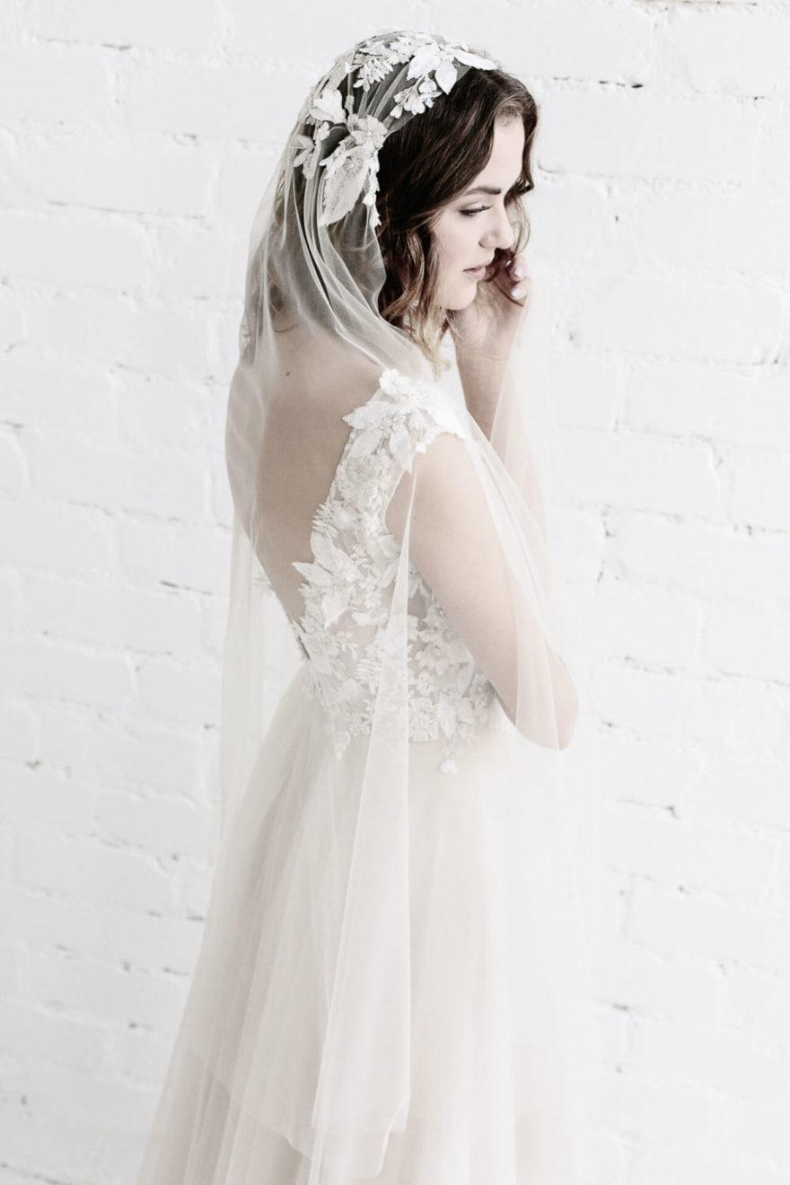 elfenhaftes Brautkleid