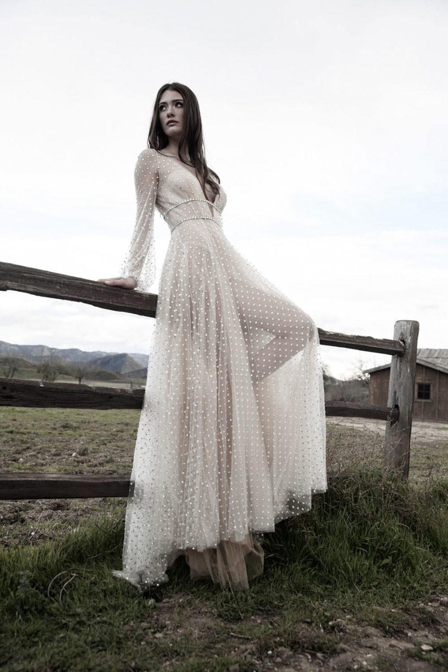 Brautkleid mit Swarovski Steinen