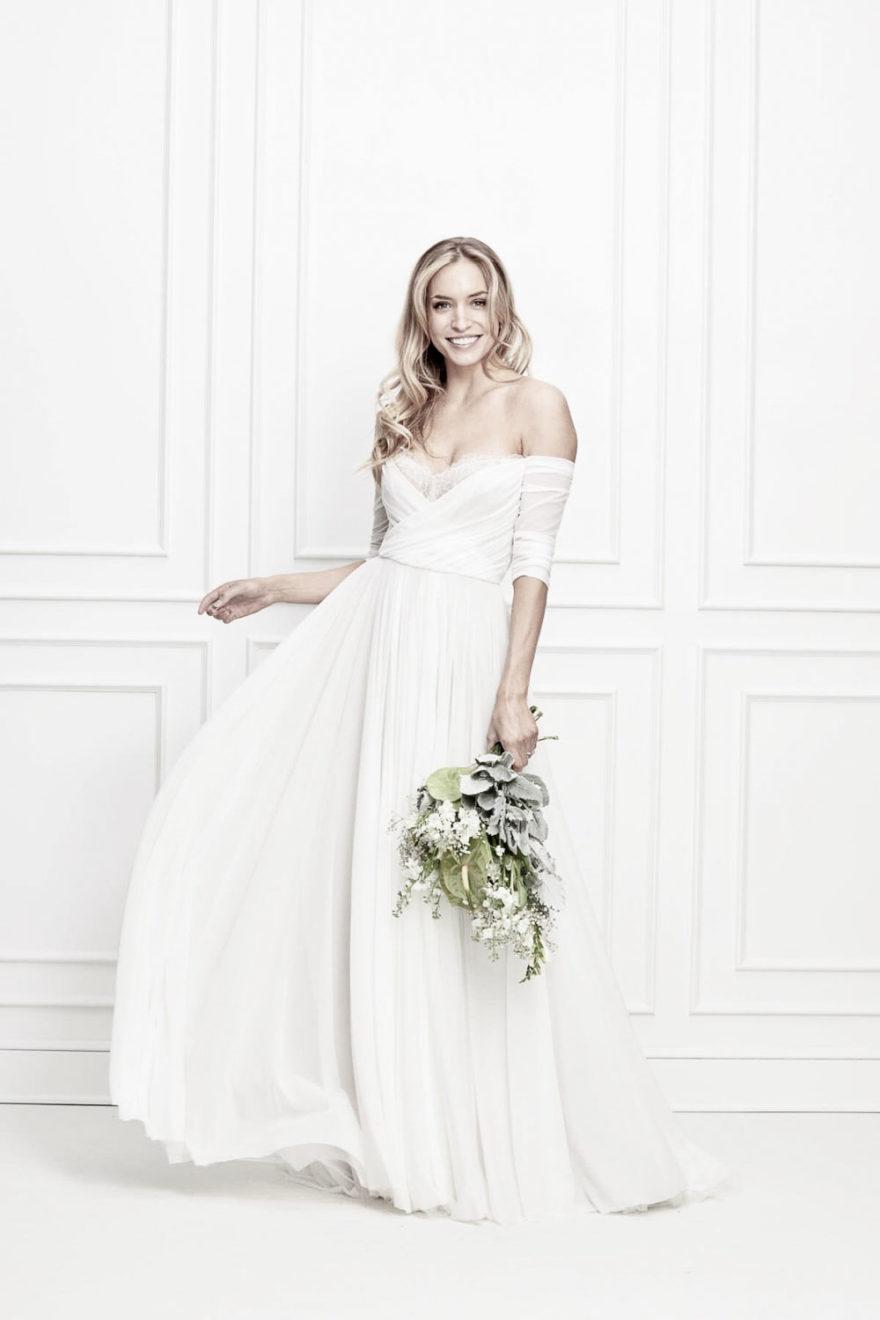 Schlichtes und klassisches Brautkleid