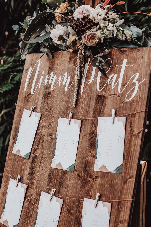 Hochzeitsdekoration | Tischplan