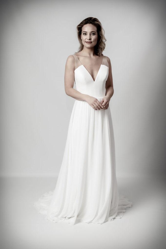 schlichte Brautmode