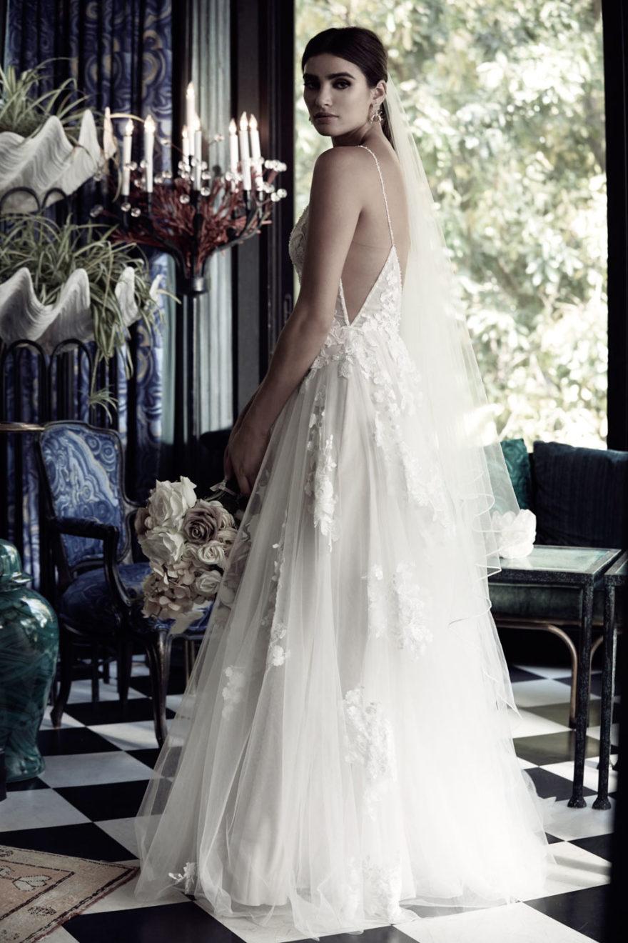 Brautkleid florale Spitze
