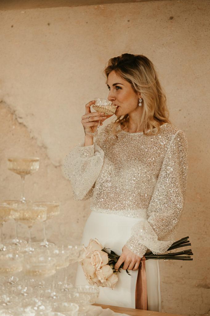 Brautzweiteiler , Brauttop , Brautrock , Glittertop, Bridal Partyoutfit ,Bridal separates , Jurgitabridal, Lambert creation , cheers ,