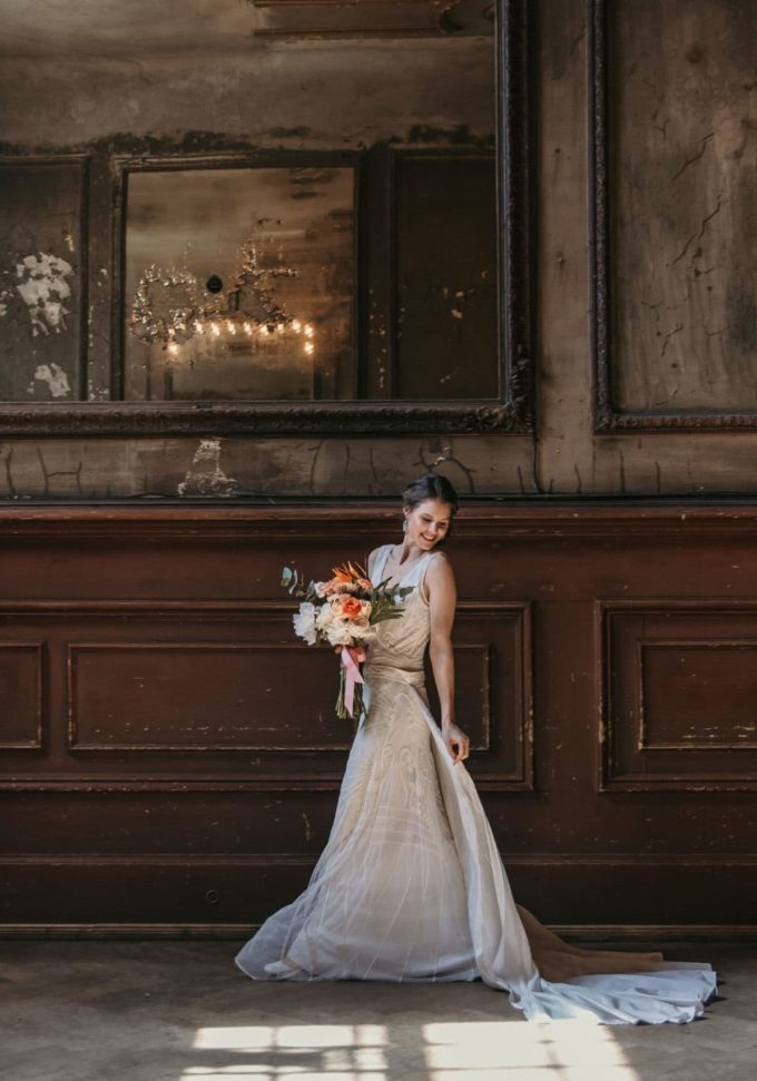 Brautkleid im Art Deco Stil
