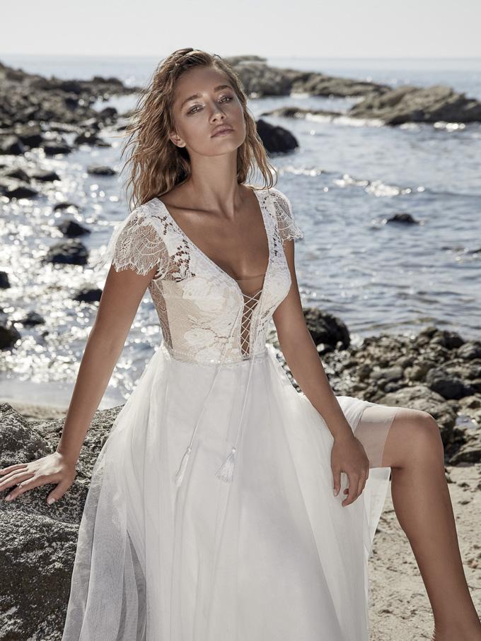 Sommerliches Brautkleid mit leichten Stoffen