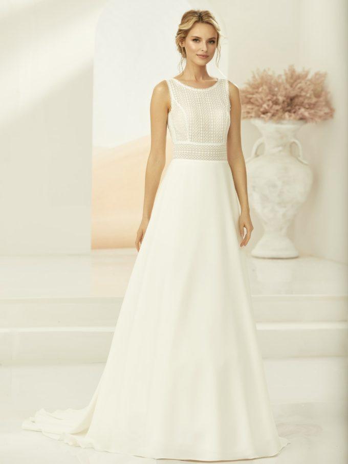 Brautkleid mit geschlossenem Top